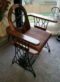 Old Treadle Sewing Machine Converted Into Singer Chair ...