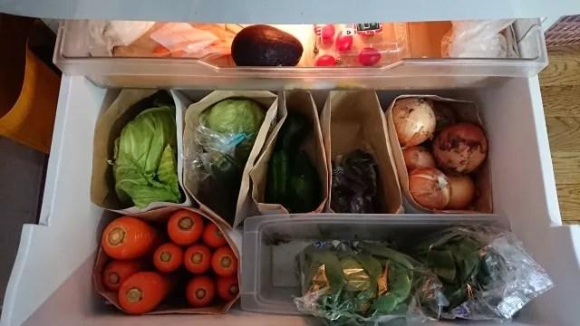 野菜室で保存