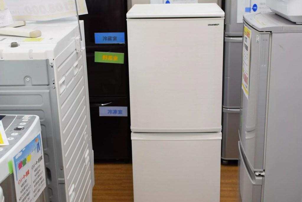 137L2ドア冷蔵庫 SHARP SJ-D14E-W