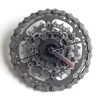 recycled bicycle bike cycling wall clock cycling gift ...