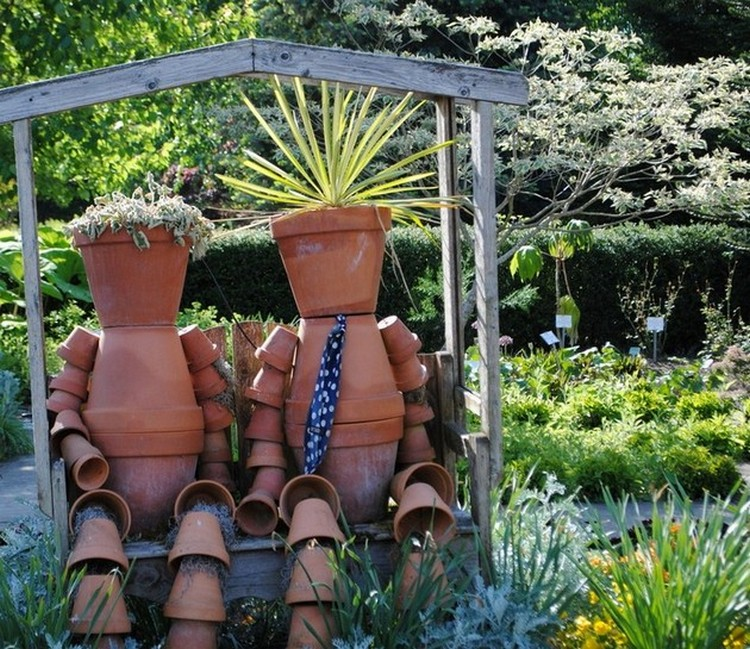 decor art upcycled garden art projects