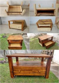 How To Make Pallet Coffee Table with Drawer - Step by Step ...