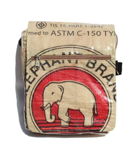 Elephant Brand Deluxe Recycled Small Messenger Bag 2