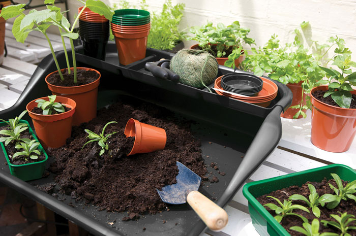 Potting Tray in black