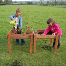Kids Standing Raised Bed Growing Table