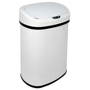 13 gallon kitchen trash can mandolin best cans 50 liter recycle bins office with motion sensor