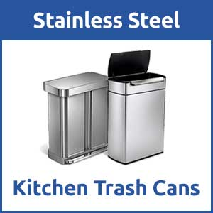 stainless steel kitchen trash can florida design ideas cans recycling bins icon