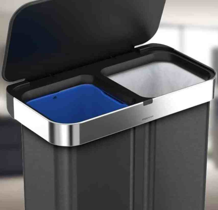 Dual Compartment Trash Cans | Garbage and Recycling Bins