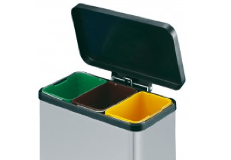 kitchen recycling bins faucets menards for recycle paper tins our can fix any home problem kitchens are a great place to reduce waste and make it easier safer quicker