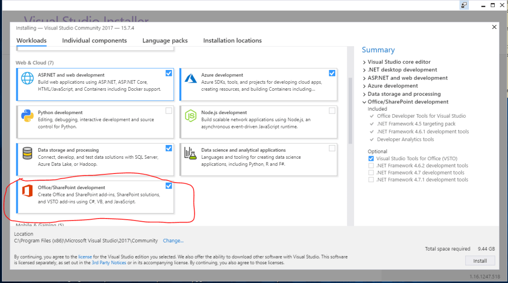 medium resolution of in addition you have to install a version of office that is supported by the office developer tools in visual studio examples in the article are tested