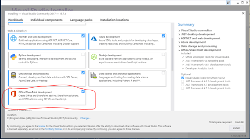 small resolution of in addition you have to install a version of office that is supported by the office developer tools in visual studio examples in the article are tested