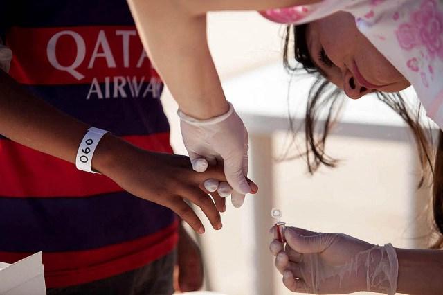 Un test de chagas en la provincia de Chaco. Foto: Telam