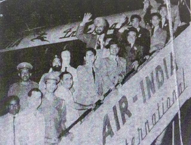 El primer contingente de prisioneros norcoreanos se embarca hacia Argentina, en 1955. Foto: Asociación de Coreanos en Argentina.
