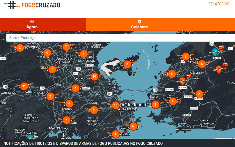 Fogo Cruzado es un laboratorio de datos sobre violencia armada en el Estado de Río de Janeiro. Foto: Fogo Cruzado