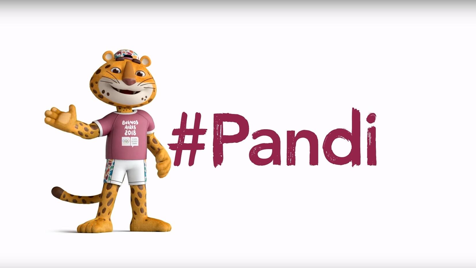 Pandi es la mascota oficial de los juegos.