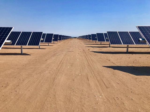 El parque solar  La Cumbre, en San Luis, fue inaugurado este año.