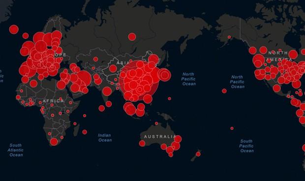 Coronavirus: mapa de casos, muertes y curados en el mundo