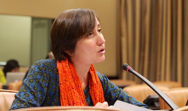 Marta Sibina, diputada de En Comú Podem y portavoz de Sanidad del Grupo de Unidos Podemos.