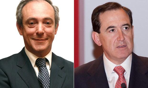 Vicente Cancio, CEO del Grupo Zurich en España; Antonio Huertas, presidente de Mapfre.