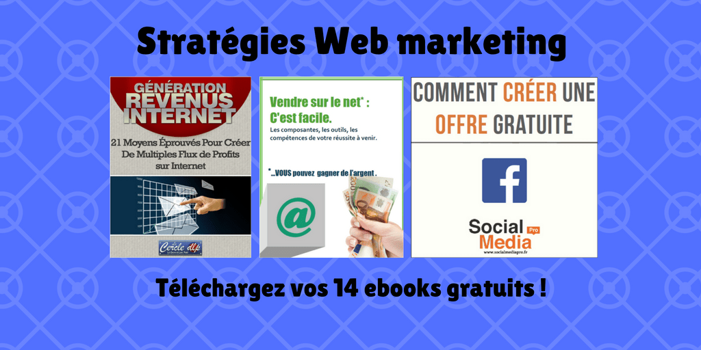 Votre pack 'Stratégies Web Marketing': 14 ebooks gratuits