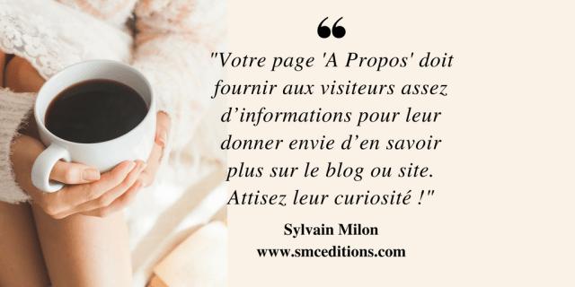 page a propos Sylvain Milon
