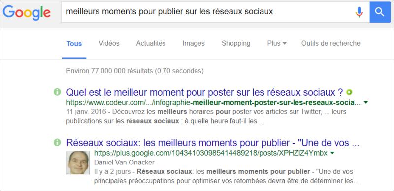 posts sociaux moments réseaux sociaux g+