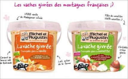 vache-givrée packaging promotion decalee