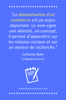 catherine belin citation enseigne commerce