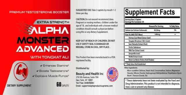 Alpha Monster Advanced Ingredients