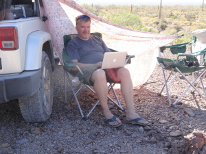writing-while-camping