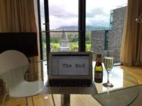 celebrating-finishing-the-wanderer-in-my-rental-apartment-in-edinburgh-scotland