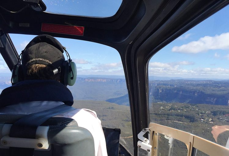 Helicopter trip out to the Blue Mountains NSW