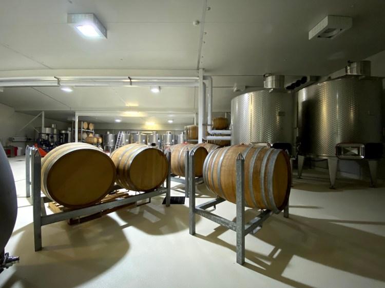 Wine barrels in Oakvale Winery