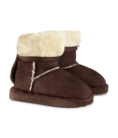 H&M Baby Ugg in ecocamoscio