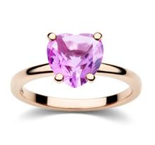 Dodo 100% Amore anello con cuore di zaffiro rosa