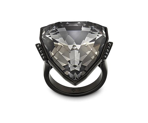 Swarovski anello Salome cristallo Jet Hematite