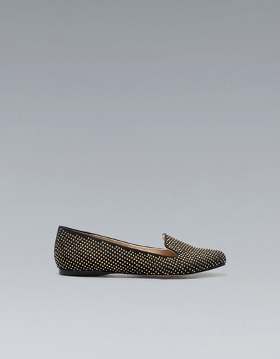 Zara slippers mocassini con borchie