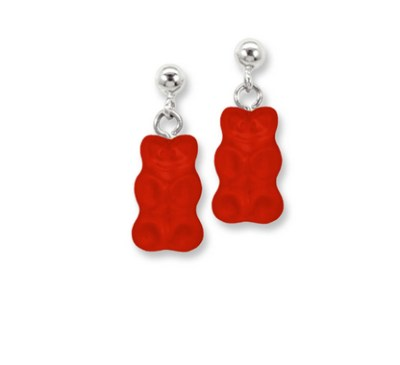 Haribo orecchini a forma di orsetti di gelatina