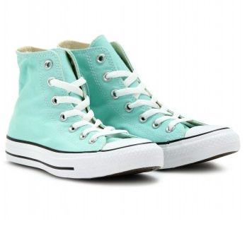 converse alte all star verde