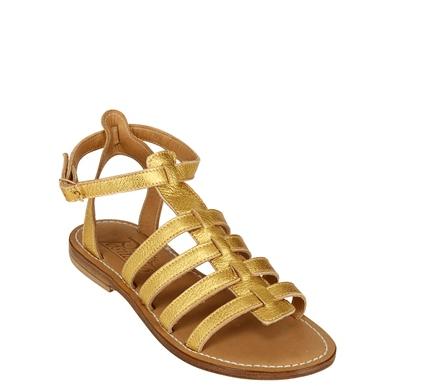 Positano sandali gladiatore oro