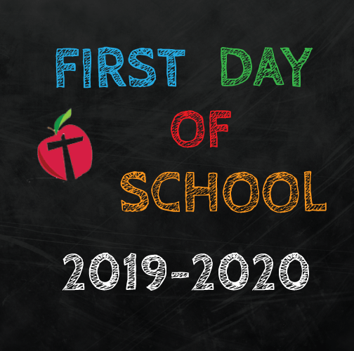 First Day of School August 26