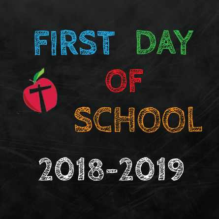 First Day of School August 27