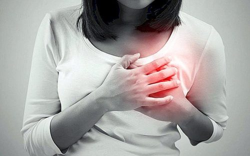 What is the left breast scratching for? Sign and reason