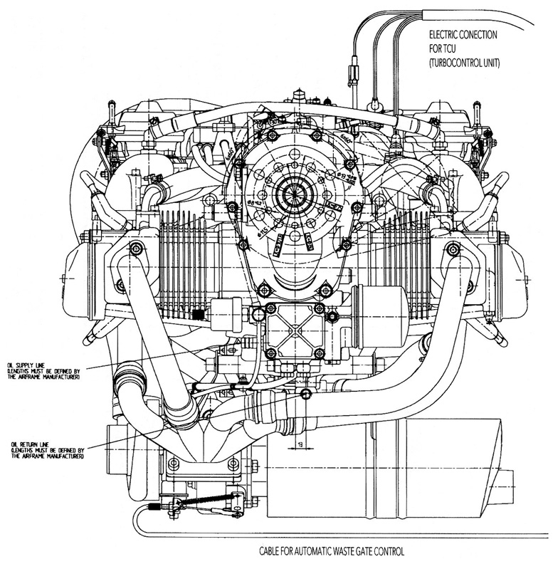 Four-Cycle Four-Cylinder Horizontally Opposed Engines
