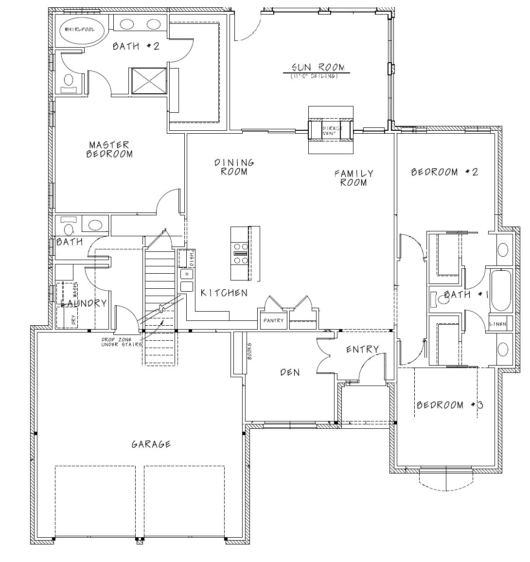 hight resolution of alli ii fll dd floor plan with sunroom artwork