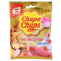 Chupa Chups The Best Of Lollipops 8 Pack - 96g