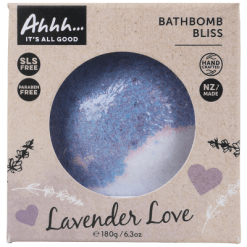 Ahhh Cosmetics Wow Lavender Love Bathbomb - 180g