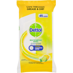 Dettol Antibacterial Lemon Disinfectant Cleaning Wipes - 45ea