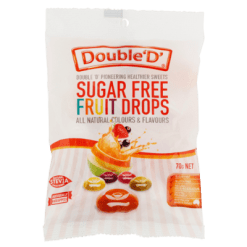 Double 'D' Sugar Free Fruit Drops Confectionery - 70g