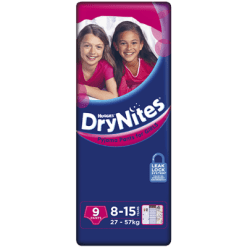 Huggies DryNites Pyjama Pants Girls 27-57kg 8-15 Years - 9ea